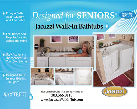 Designed For Seniors Jacuzzi Walk In Tub Marketing CollateralTamarind  Design + Marketing